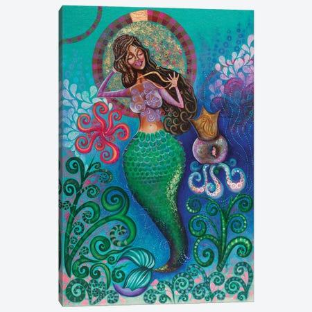 Treasures Of The Sea Canvas Print #AHJ11} by Ashley Joi Canvas Art Print