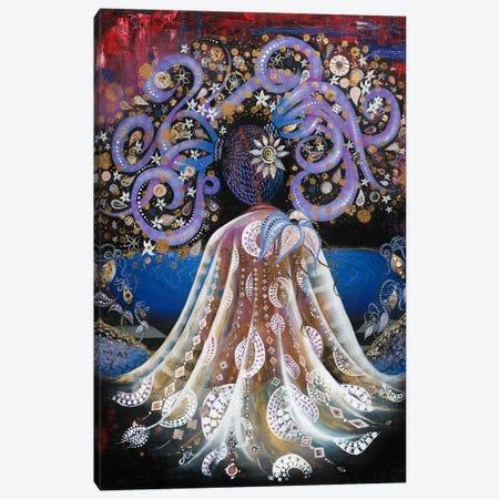 Night Blooming Jasmine Canvas Print #AHJ14} by Ashley Joi Canvas Artwork