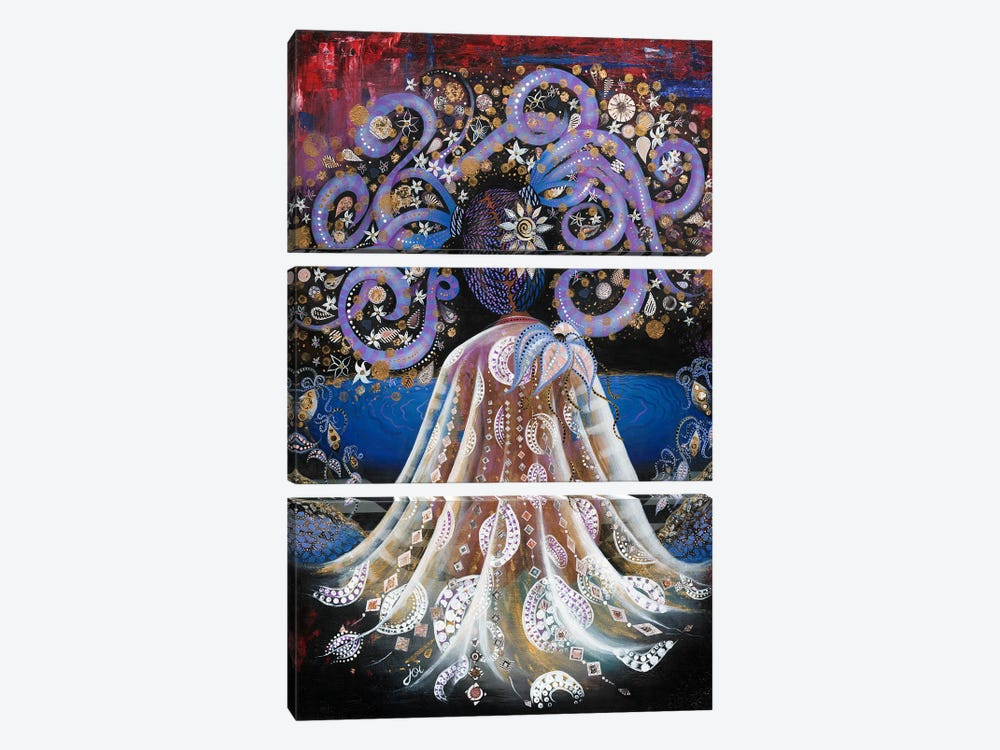 Night Blooming Jasmine by Ashley Joi 3-piece Canvas Artwork
