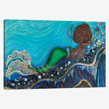 Yemaya's Nursery Canvas Print #AHJ15} by Ashley Joi Canvas Artwork