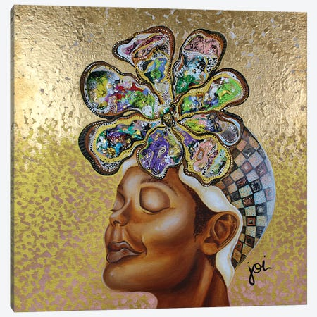 Highly Favored Canvas Print #AHJ34} by Ashley Joi Canvas Artwork