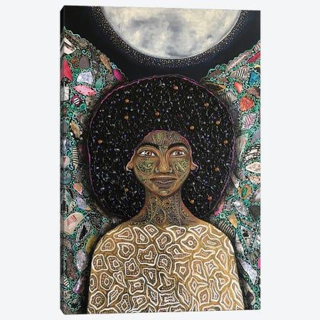 New Moon Canvas Print #AHJ48} by Ashley Joi Canvas Artwork