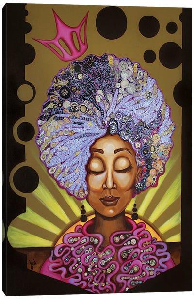 Crowned In Curls Canvas Art Print