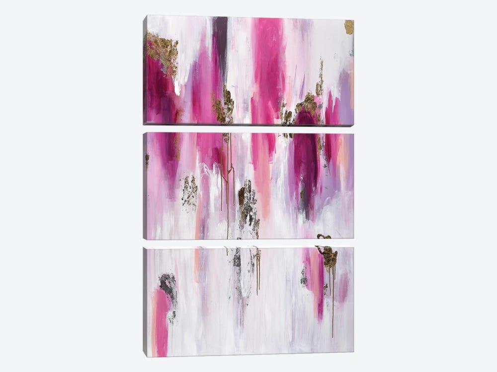 Raspberry Crush by Julie Ahmad 3-piece Art Print