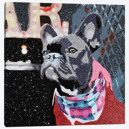 Biggie In Red Canvas Print #AHM10} by Julie Ahmad Canvas Wall Art