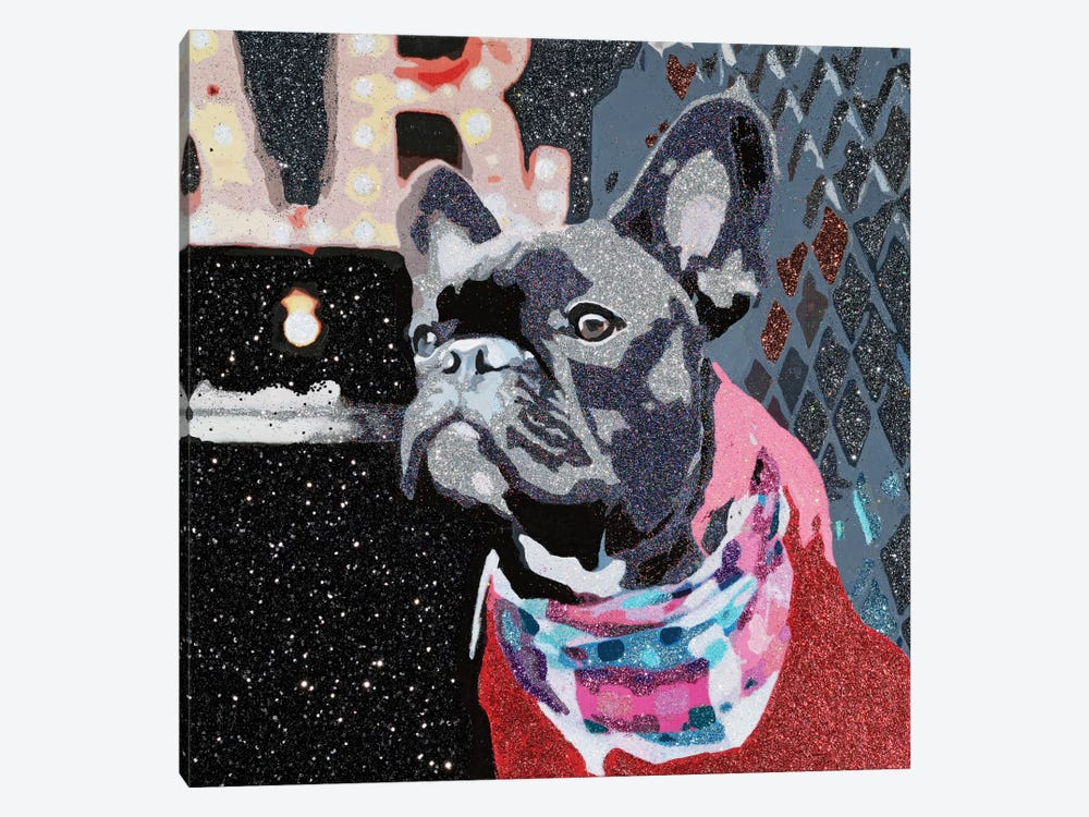 Biggie In Red by Julie Ahmad 1-piece Canvas Print