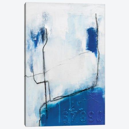Blue Bird on a Wire Canvas Print #AHM114} by Julie Ahmad Canvas Print