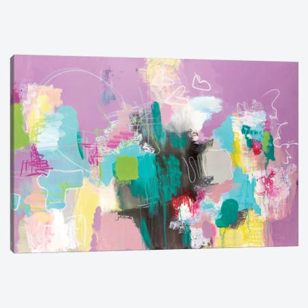 Can't Get Enough Canvas Print #AHM12} by Julie Ahmad Canvas Artwork
