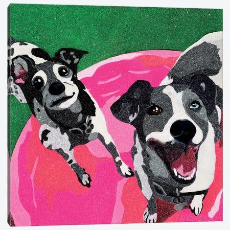 Flip 'n' Flop Canvas Print #AHM15} by Julie Ahmad Canvas Art Print