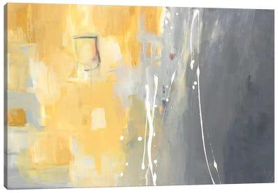 50 Shades Of Gray And Yellow Canvas Art Print