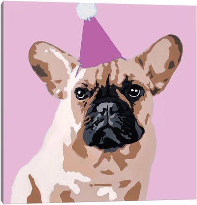 Milo On Pink Canvas Art Print