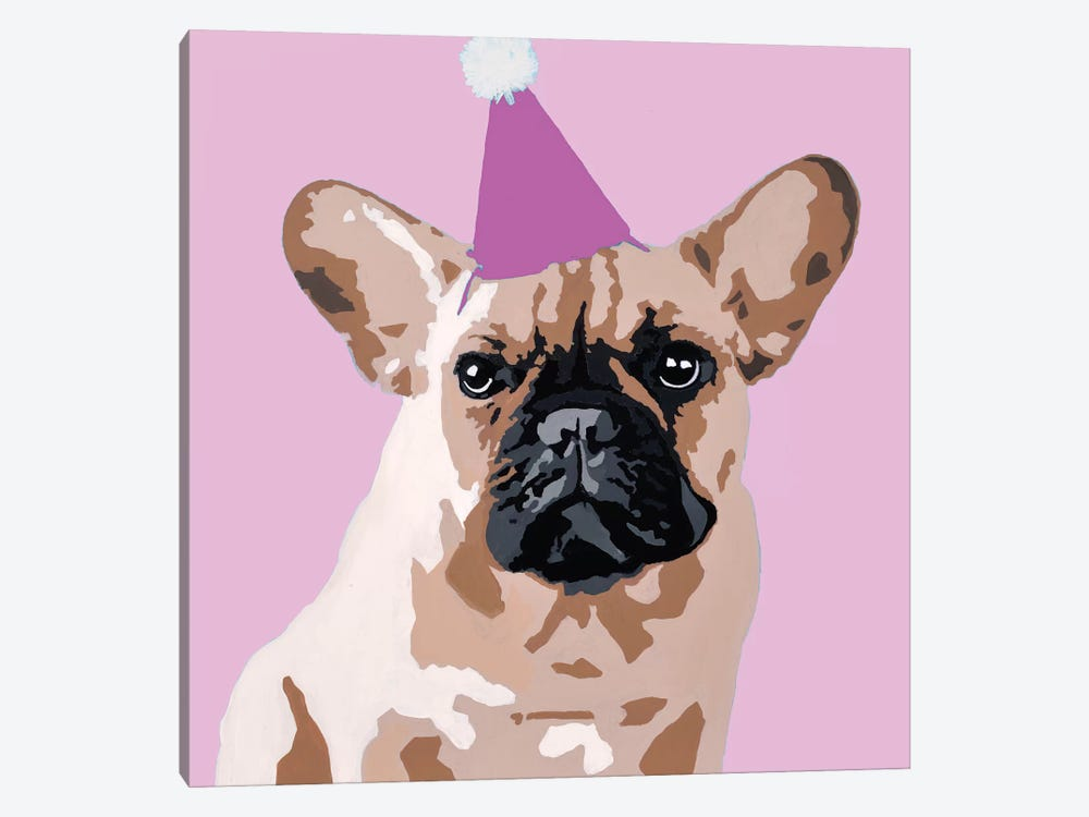 Milo On Pink by Julie Ahmad 1-piece Canvas Art