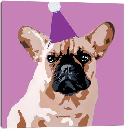 Milo On Violet Canvas Art Print