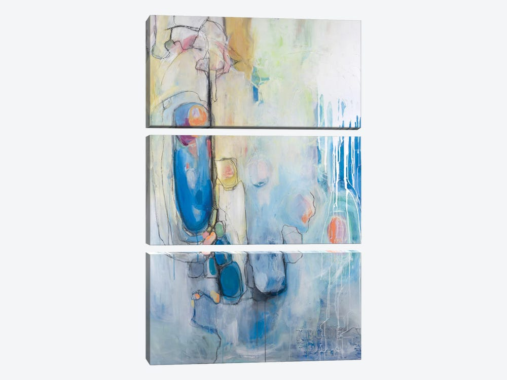 Out Of The Blue by Julie Ahmad 3-piece Canvas Art Print