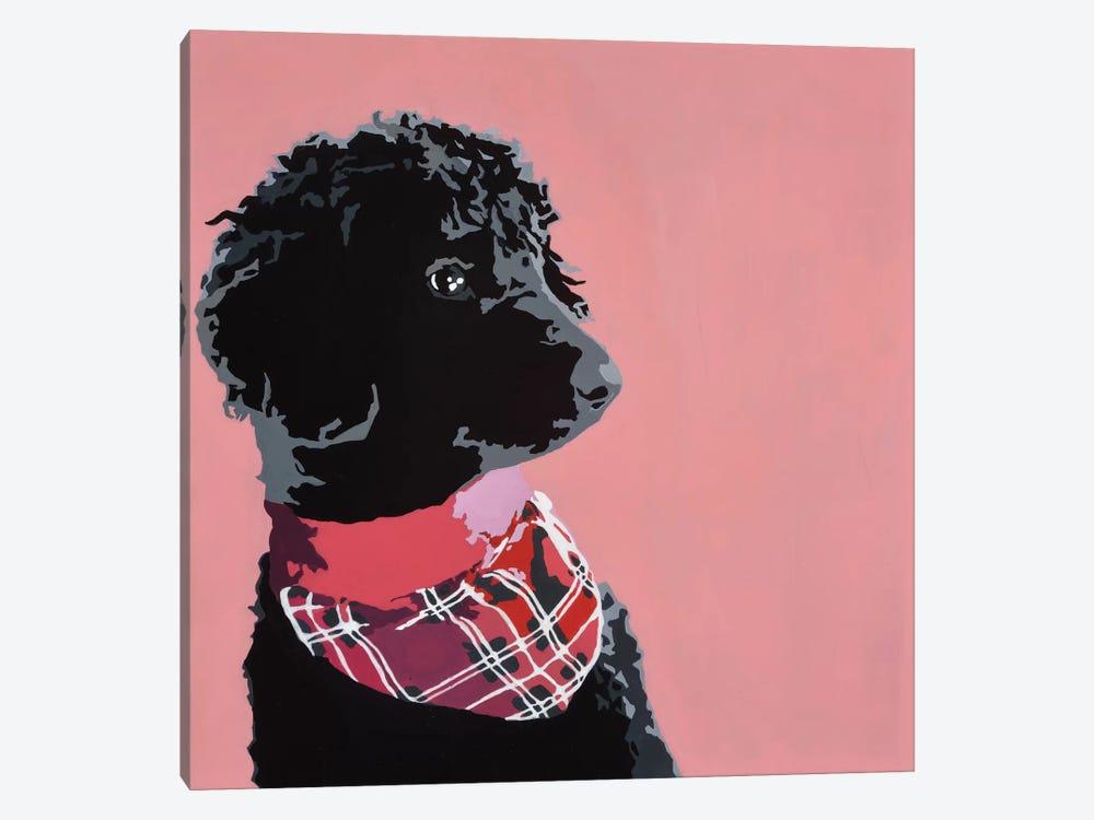 Standard Black Poodle by Julie Ahmad 1-piece Canvas Artwork