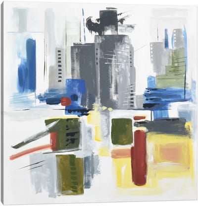 Architectural Abstract Canvas Art Print