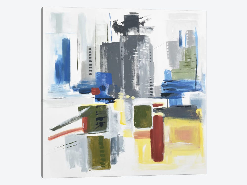 Architectural Abstract by Julie Ahmad 1-piece Canvas Art