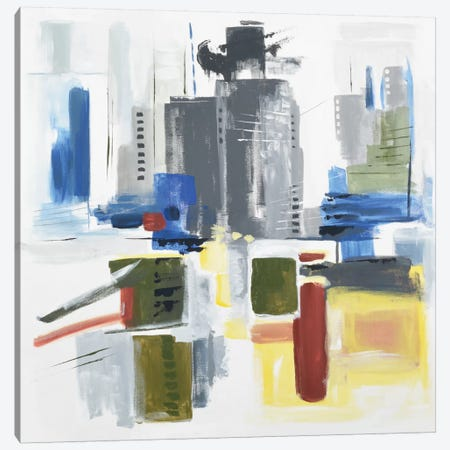 Architectural Abstract 3-Piece Canvas #AHM3} by Julie Ahmad Canvas Print