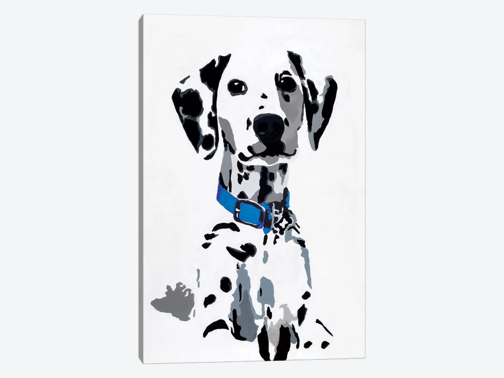 Winnie I (Blue Collar) by Julie Ahmad 1-piece Art Print
