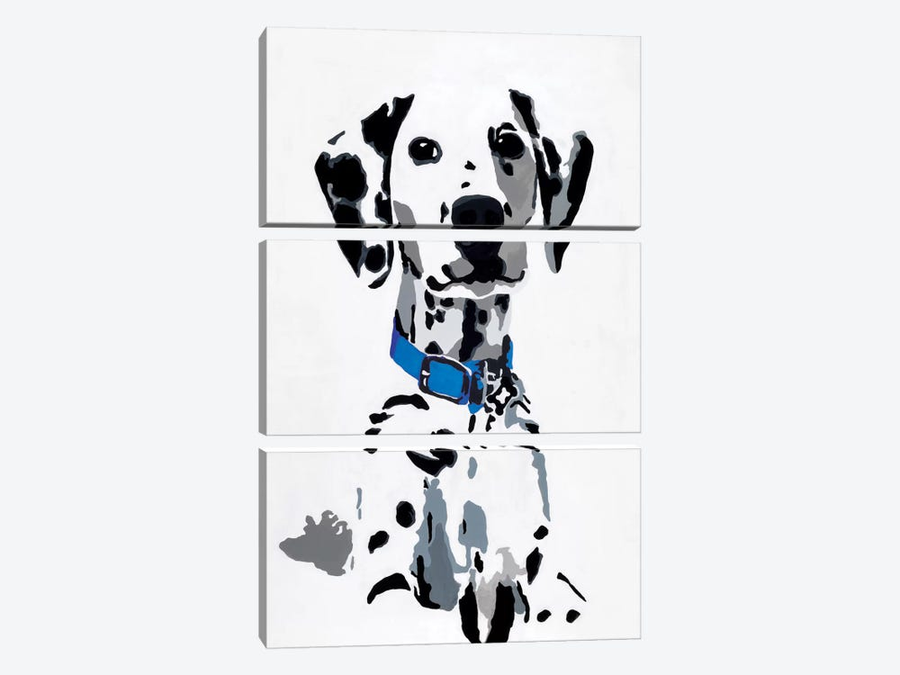 Winnie I (Blue Collar) by Julie Ahmad 3-piece Canvas Print