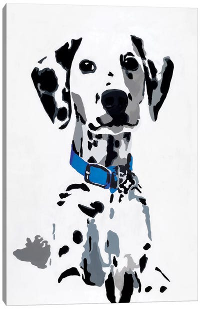 Winnie I (Blue Collar) Canvas Art Print