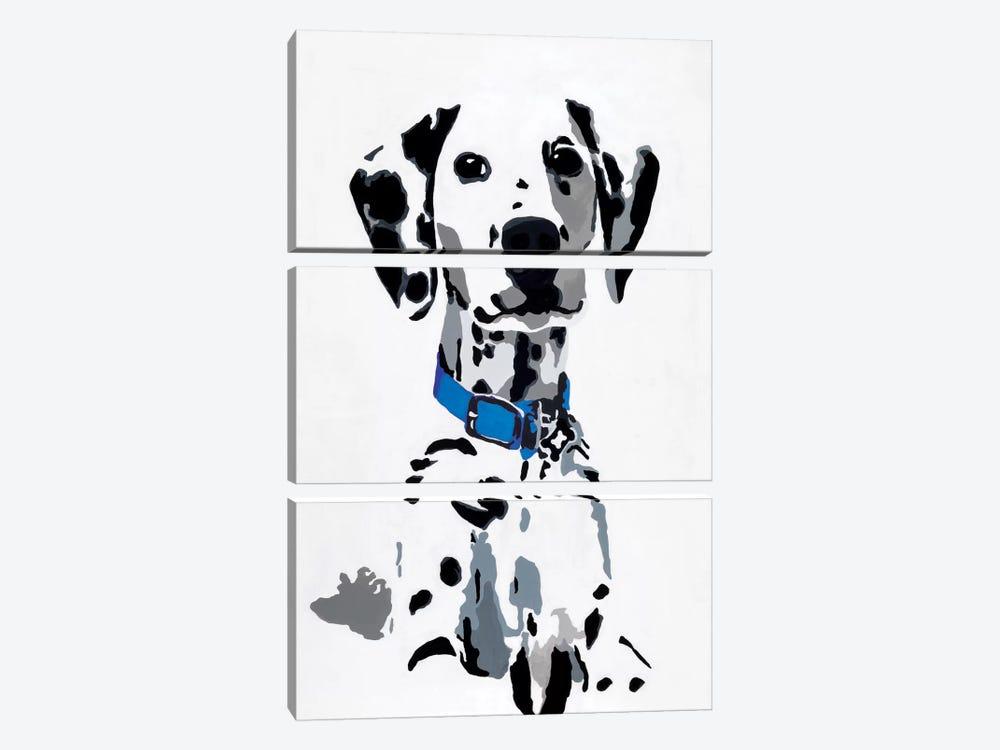 Winnie I (Blue Collar) by Julie Ahmad 3-piece Canvas Print