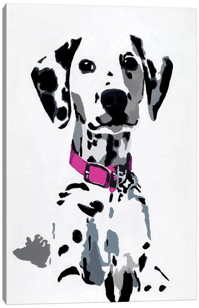 Winnie II (Pink Collar) Canvas Art Print