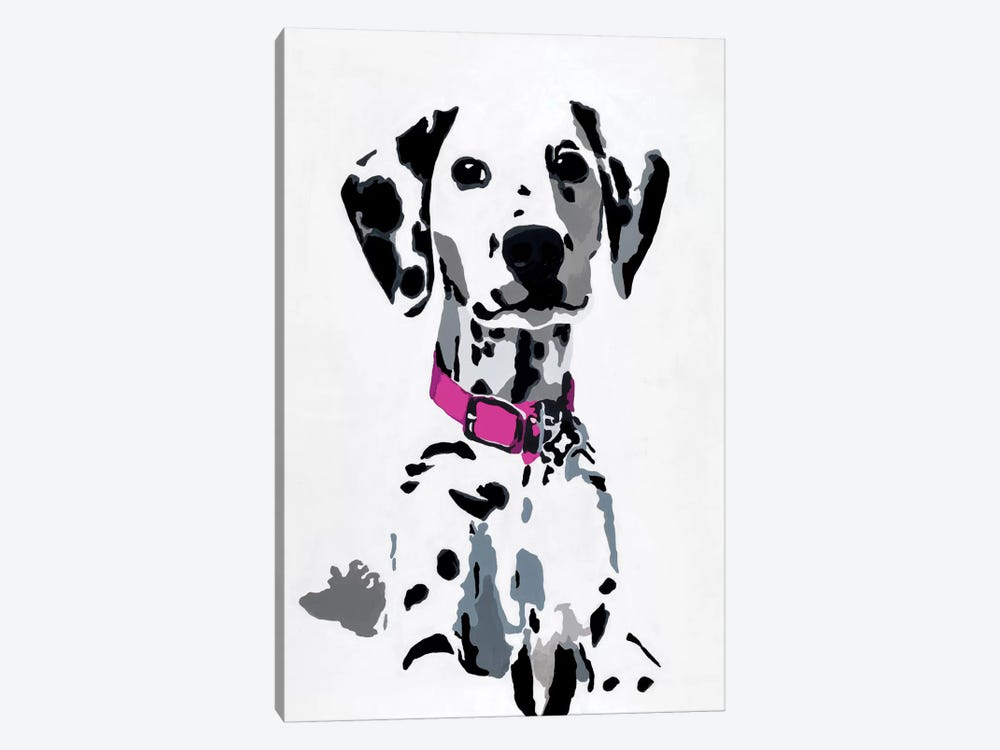 Winnie II (Pink Collar) by Julie Ahmad 1-piece Canvas Wall Art