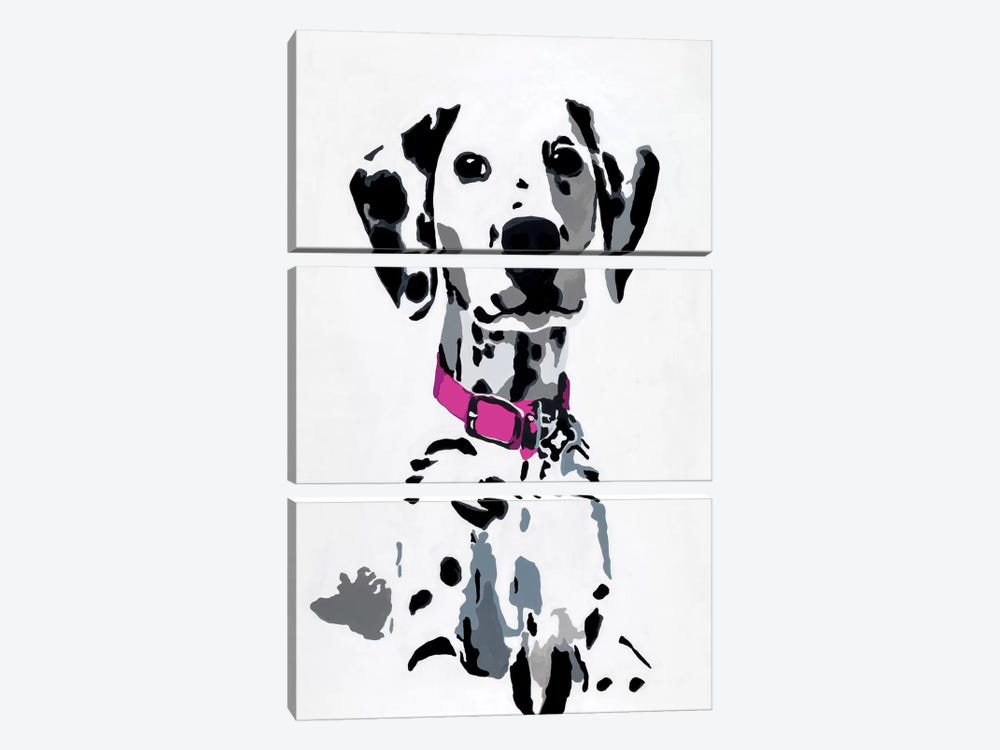 Winnie II (Pink Collar) by Julie Ahmad 3-piece Canvas Artwork