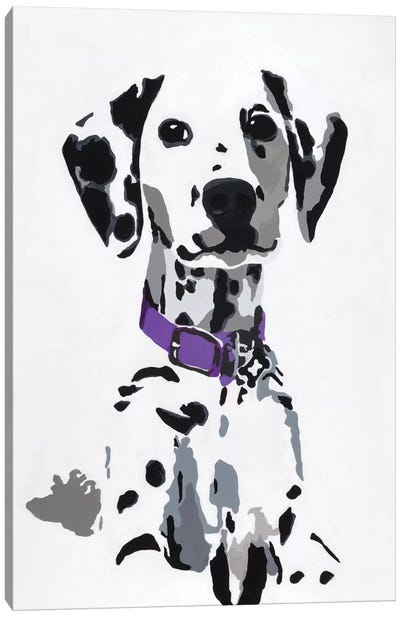 Winnie III (Purple Collar) Canvas Art Print