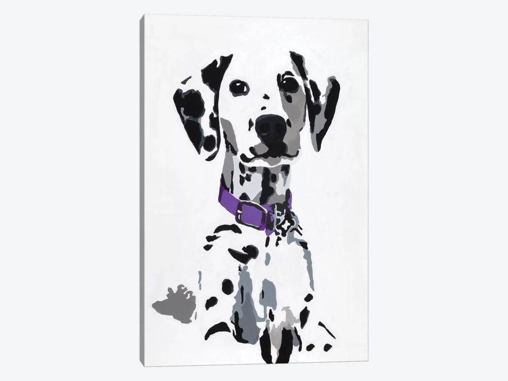 Winnie III (Purple Collar) by Julie Ahmad 1-piece Canvas Print