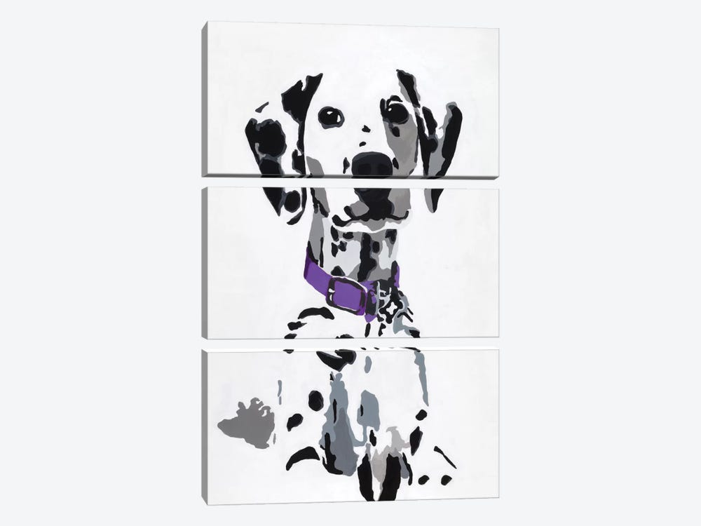 Winnie III (Purple Collar) by Julie Ahmad 3-piece Art Print