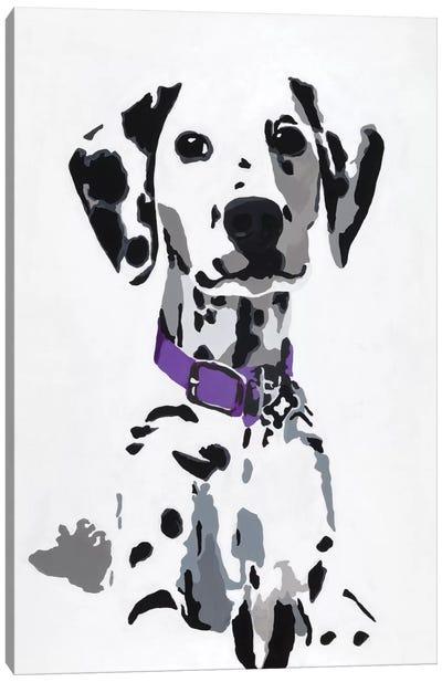 Winnie III (Purple Collar) Canvas Art Print