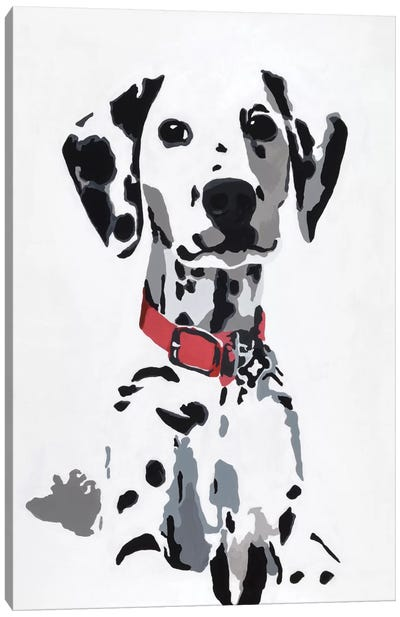 Winnie IV (Red Collar) Canvas Art Print
