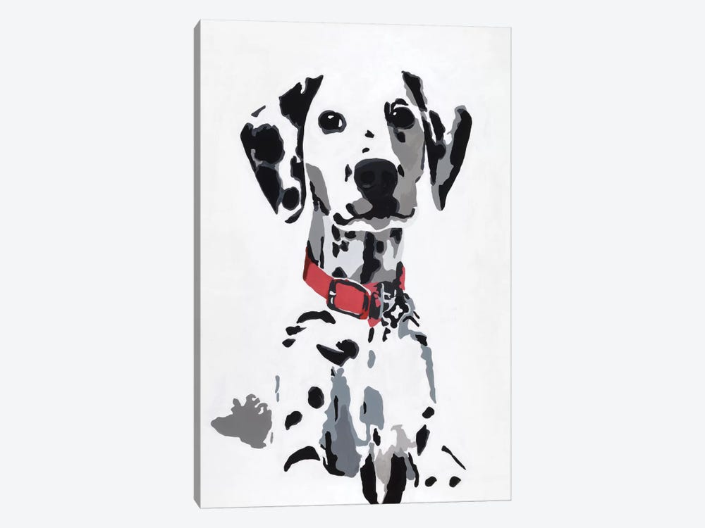 Winnie IV (Red Collar) by Julie Ahmad 1-piece Canvas Art