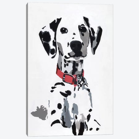 Winnie IV (Red Collar) Canvas Print #AHM44} by Julie Ahmad Canvas Artwork