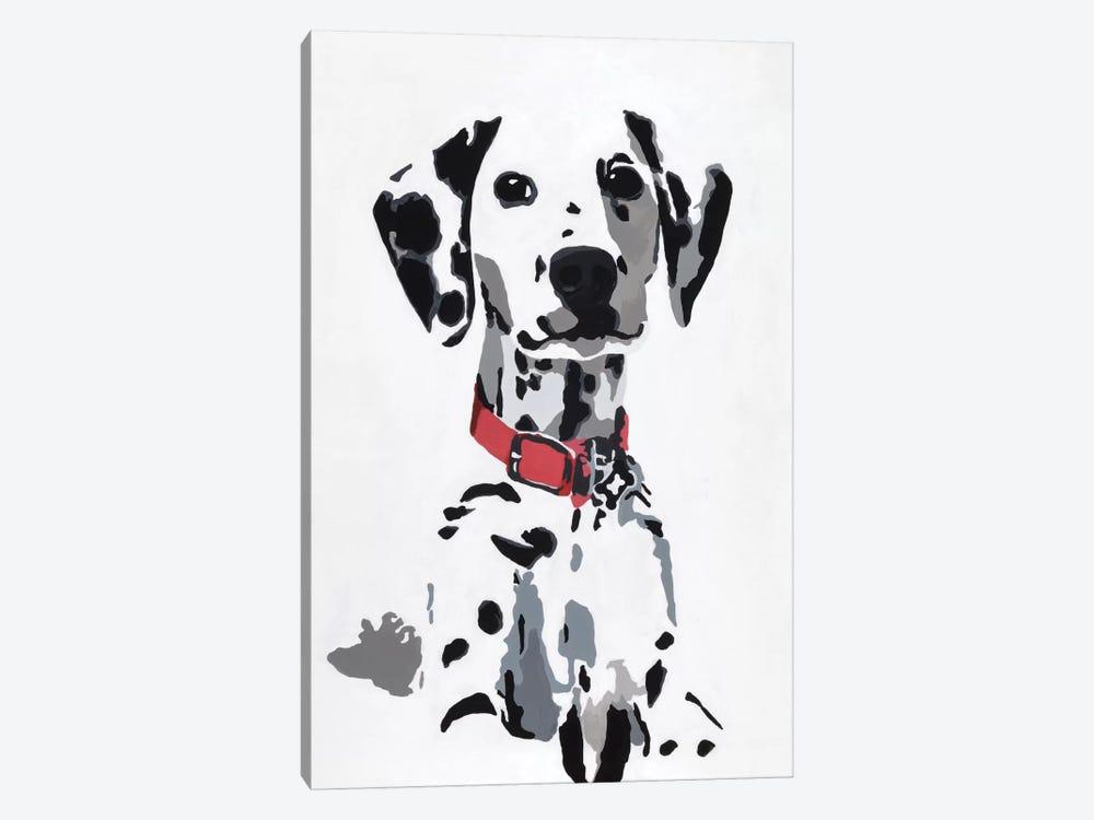 Winnie IV (Red Collar) by Julie Ahmad 1-piece Canvas Art