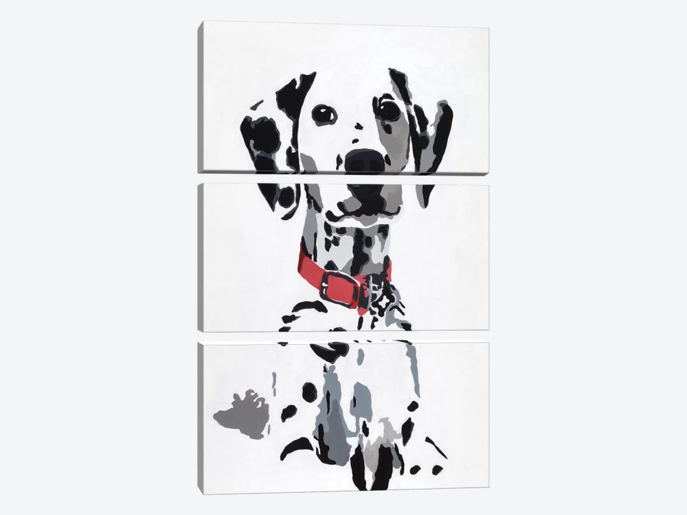 Winnie IV (Red Collar) by Julie Ahmad 3-piece Canvas Art