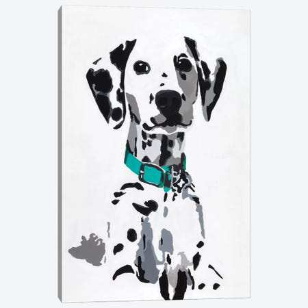 Winnie V (Teal Collar) Canvas Print #AHM45} by Julie Ahmad Canvas Wall Art