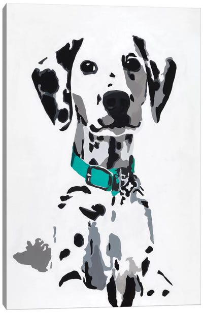 Winnie V (Teal Collar) Canvas Art Print