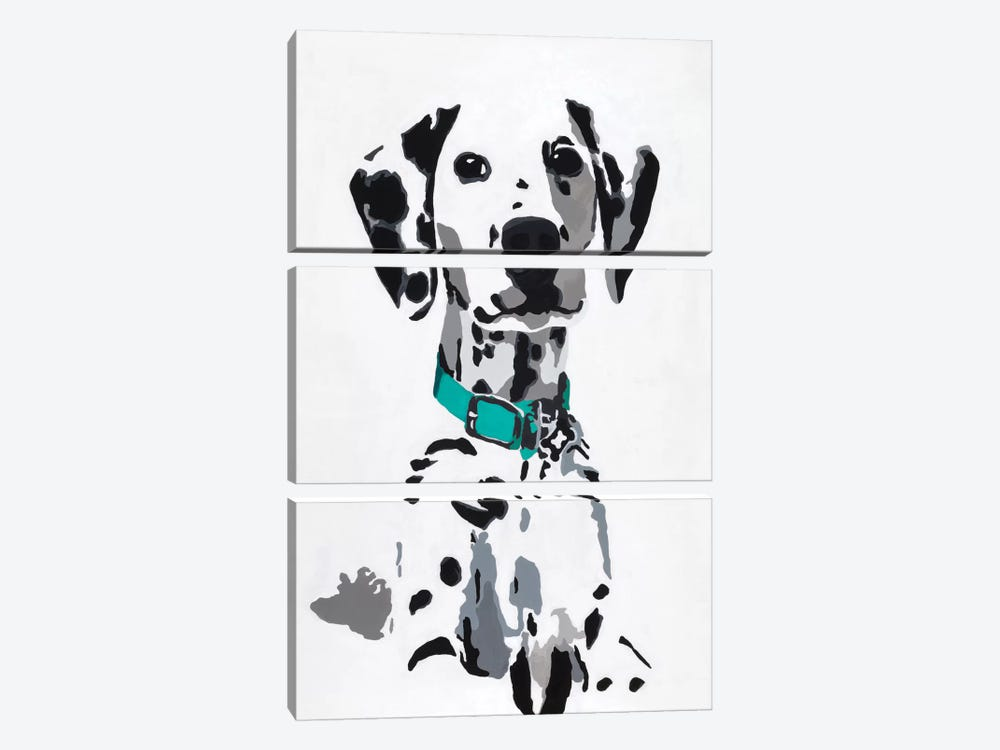 Winnie V (Teal Collar) by Julie Ahmad 3-piece Canvas Print