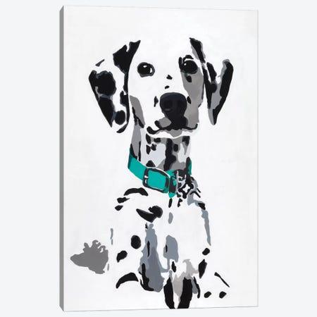 Winnie V (Teal Collar) Canvas Print #AHM45} by Julie Ahmad Canvas Wall Art