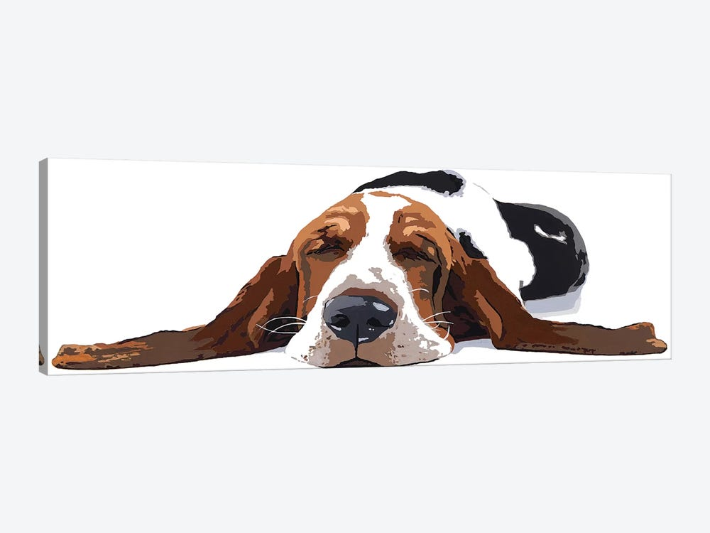 Workin' Like A Dog by Julie Ahmad 1-piece Canvas Wall Art
