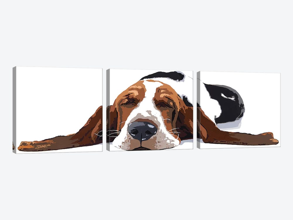 Workin' Like A Dog by Julie Ahmad 3-piece Canvas Art
