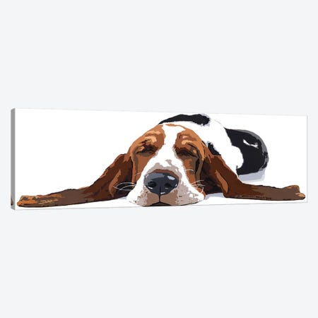 Workin' Like A Dog Canvas Print #AHM46} by Julie Ahmad Canvas Artwork
