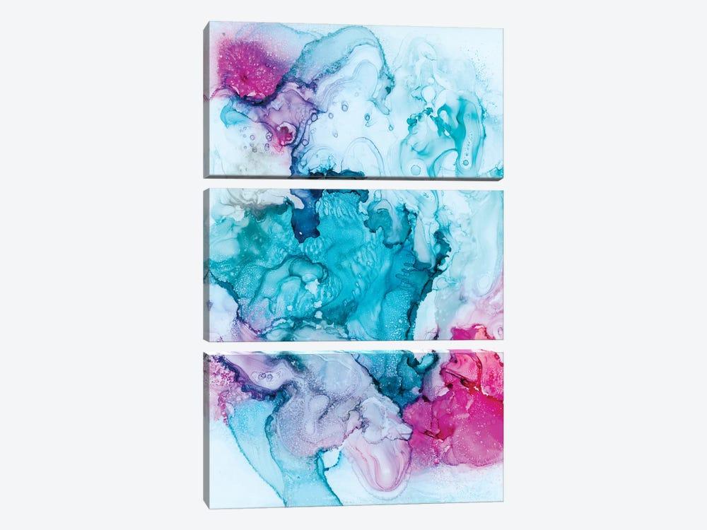 Candied Coral by Julie Ahmad 3-piece Canvas Artwork