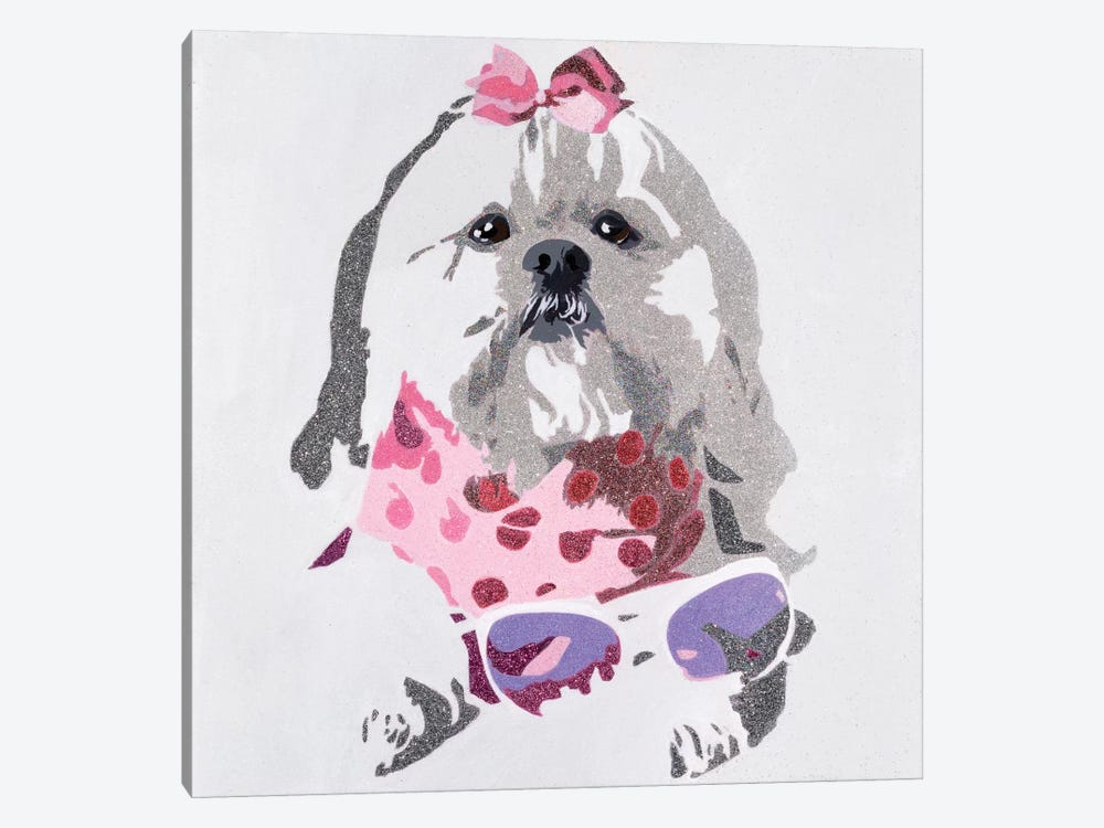 Beausy Bear In Pink 1-piece Canvas Art