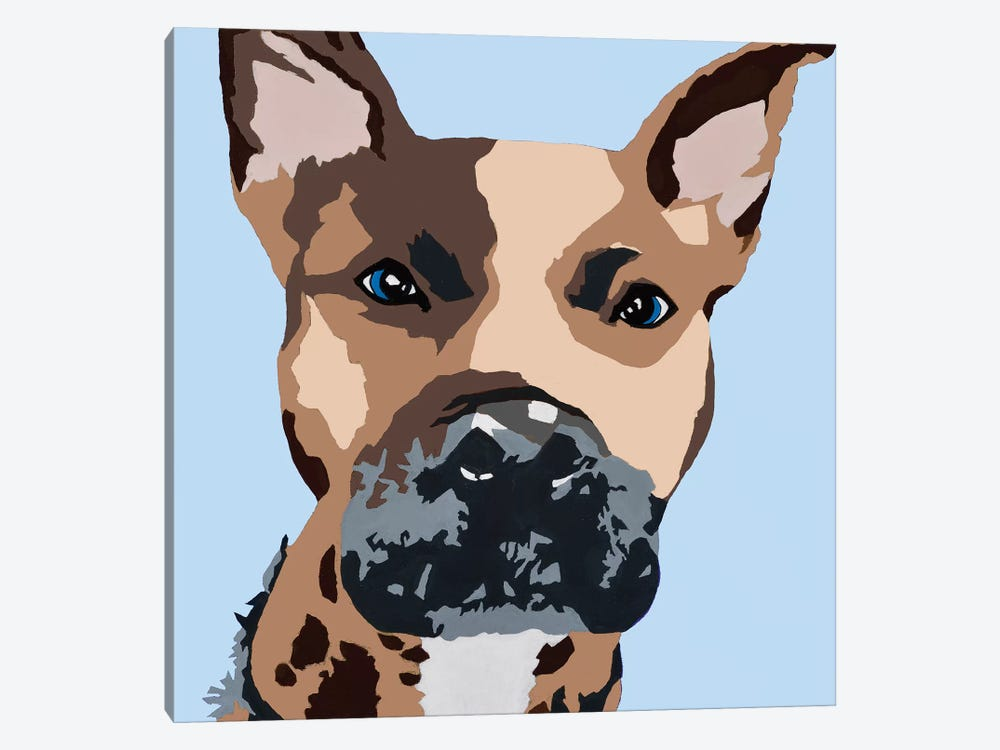 Prince The Pit On Baby Blue by Julie Ahmad 1-piece Canvas Wall Art