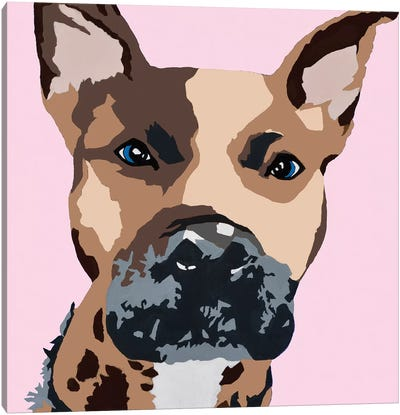 Prince The Pit On Pink Canvas Art Print