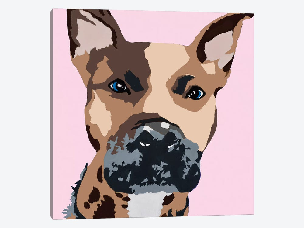 Prince The Pit On Pink by Julie Ahmad 1-piece Canvas Art Print